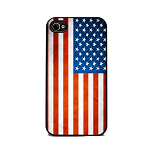 Patriotic American Flag Red, White, and Blue iPhone silicone rubber 4/4s case at amazon