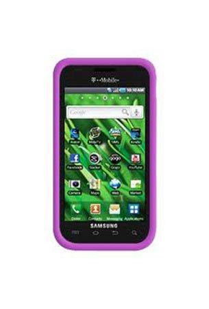 Samsung Vibrant T959 Cell Phone Solid Purple Silicon Skin Case