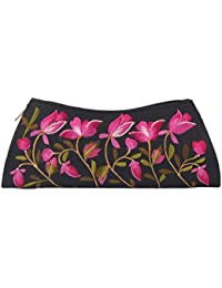 Soulful Threads Hand Clutch In Cotton Silk Fabric With Elegant Embroidery - B01MSOZCA4