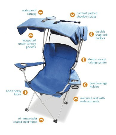 Kelysus Convertible Canopy Chair - Blue