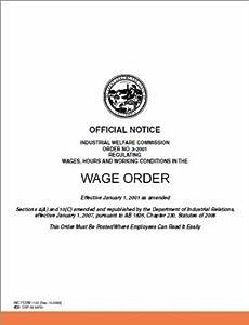 Amazon.com : California IWC Wage Order_No 17 Miscellaneous ...
