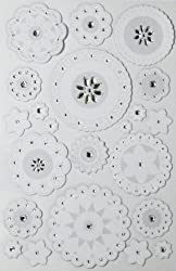 Martha Stewart Crafts Stickers, Large Layered Doily and Gems