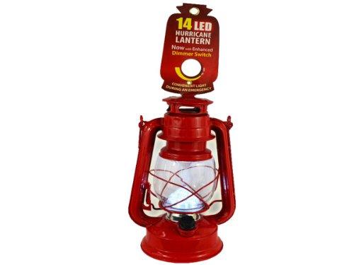 14 Led Hurricane Lantern Black