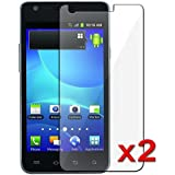 2x Samsung Galaxy S2 S 2 II AT&T SGH-i777 Premium Clear LCD Screen Protector ...