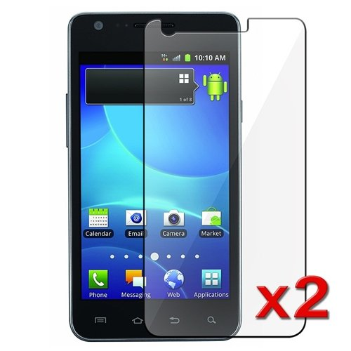 2x Samsung Galaxy S2 S 2 II AT&T SGH-i777 Premium Clear LCD Screen Protector ... (Lcd Display Galaxy S2 compare prices)