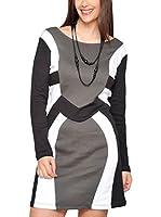 HHG Vestido (Marrón / Negro / Blanco)