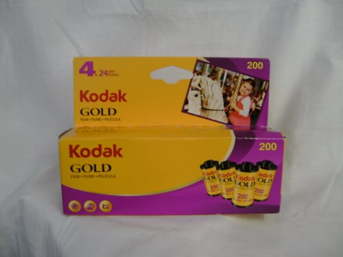 Kodak 603 0100 Gold 200 Color Negative Film (ISO 200) 35mm 24-Exposures 4 Roll Pack