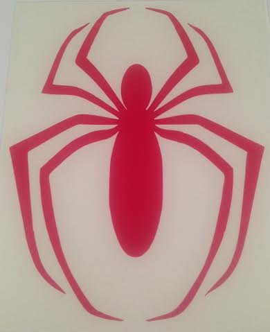 Spiderman Black Widow (Red) Decal   5 In   Automobile, Laptop, Etc.,