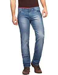 FN Jeans Stylish Blue Slim Fit Low Rise Stone Wash Denim For Men | FNJ9157