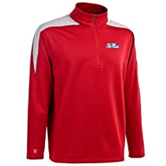 Mississippi Succeed 1 4 Zip Performance Pullover by Antigua
