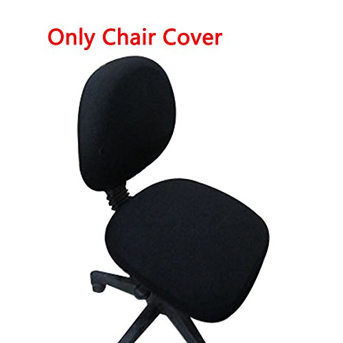 Loghot Chair Covers Spandex Universal Computer Office Desk Stretch Rotating Pure Color Chair Cover (Black)