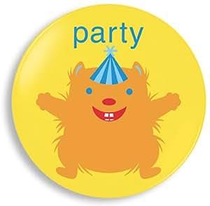 Amazon.com | Jane Jenni 8-Inch Party Animal Melamine Plate, Orange