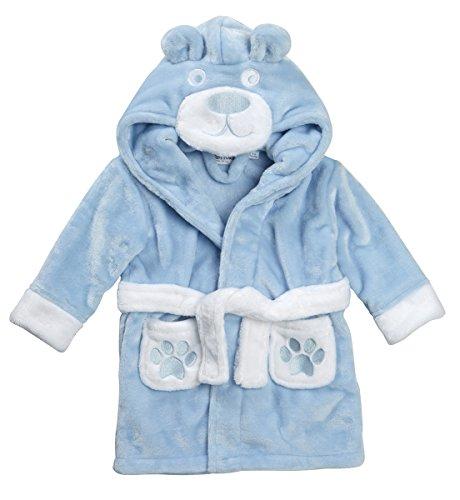 bambino-morbido-peluche-accappatoio-blue-6-12-mesi
