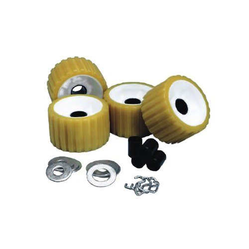 C.E. Smith Ribbed Roller Replacement Kit - 4 Pack - Gold