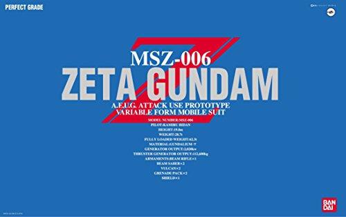 PG 1/60 MSZ-006 ゼータガンダム (機動戦士Zガンダム)