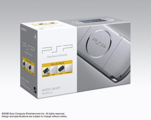 PSP「プレイステーション・ポータブル」 バリュー・パック ミスティック・シルバー(PSP-3000KMS)