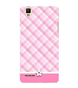 Check Bikini Pattern 3D Hard Polycarbonate Designer Back Case Cover for Oppo F1