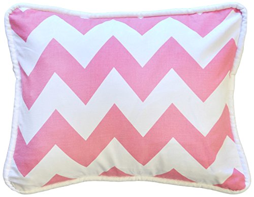 New Arrivals Accent Pillow, Zig Zag in Hot Pink