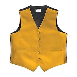 Gold Satin 5 Button Full Back Vest