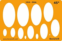 Metric 45 Degrees Ellipse Ellipses Oval Shape Symbols Drafting Drawing Template Stencil