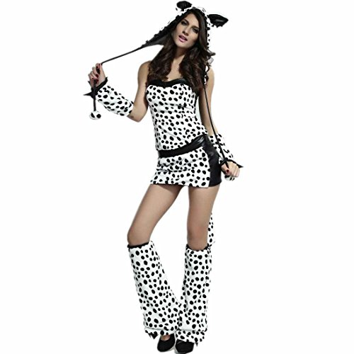 Dear-Lover Gloves Short Dress Coat Hat Divine Dalmation Costume Multicoloured