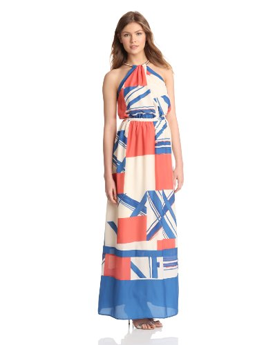 Jessica Simpson Womens Halter Maxi Dress