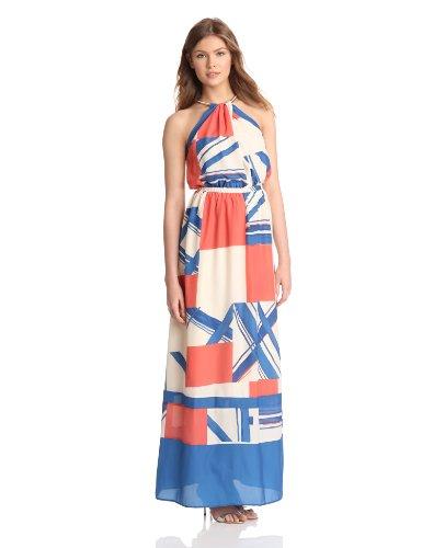 Jessica Simpson Womens Halter Maxi Dress