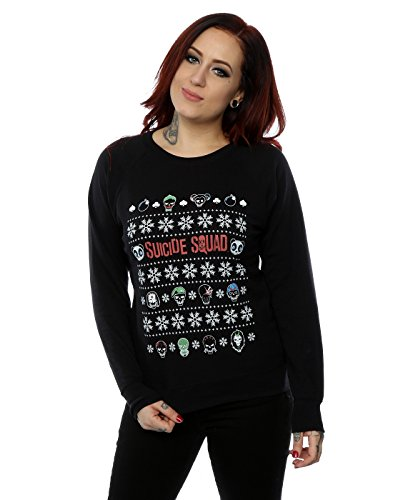 Suicide Squad Donna Characters Christmas Felpa X-Large Nero