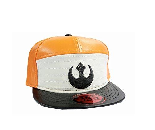 Star Wars Baseball cap X Wing fighter pilot new Official Orange Snapback