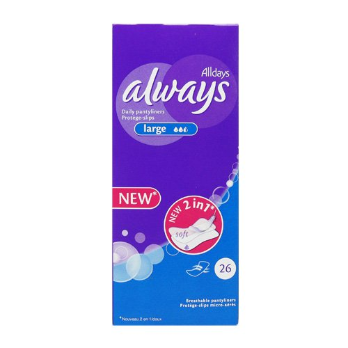 Always Daily Pantyliners Large New 2 in 1 - 26