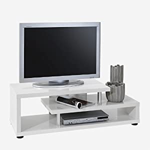 tv tisch tv regal fernsehtisch fernsehregal hochglanz wei k che haushalt. Black Bedroom Furniture Sets. Home Design Ideas
