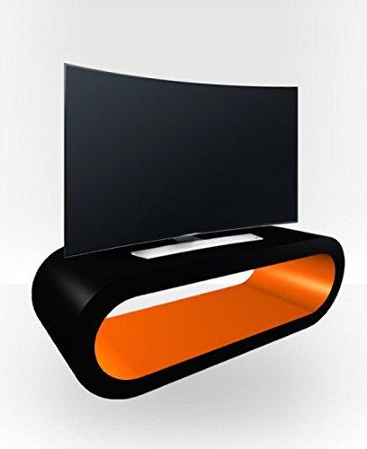 Außen schwarz groß Hoop TV Ständer Orange glänzend