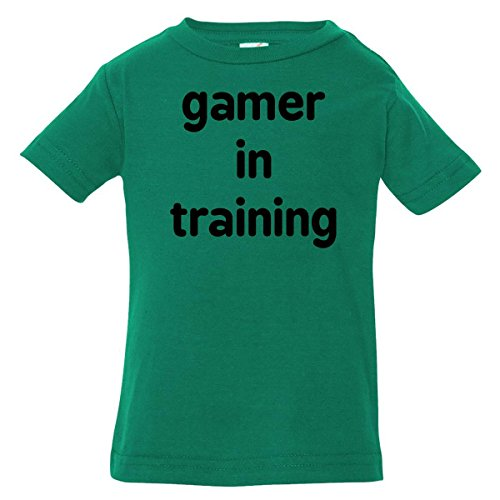 Inktastic Baby Boys' Gamer In Training Baby T-Shirt 6 Months Kelly Green