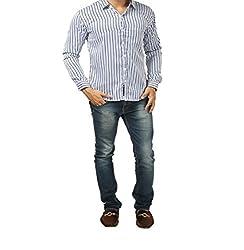 Fashion Tree Men's Casual Shirt (ST-PR_Purple_42)