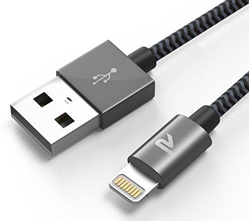 [MFI certifié Apple] Rampow® Nylon Câble Lightning vers USB