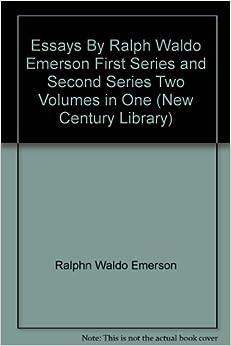 essays first series emerson amazon Custom essay service org emerson essays first series write narrative speech resume for job.