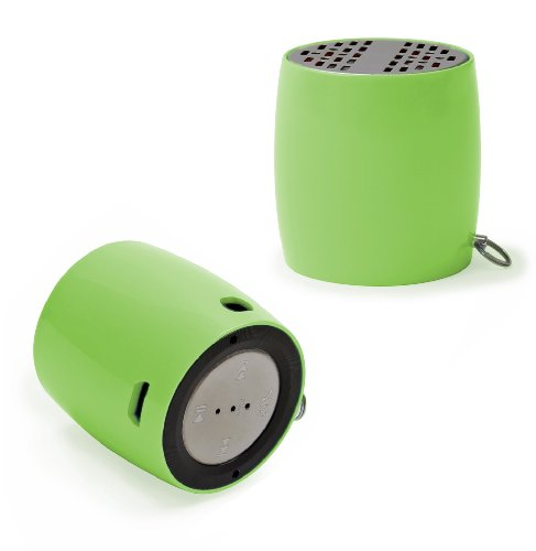 Ivation Super Portable Bluetooth Speaker With Aux Input & Built-In Usb Rechargeable Battery, Micro Mini Key-Chain Bluetooth Music Amplifier & Phone Loudspeaker - Onboard Controls Include Handy Redial Feature - Great For Outdoor Sports Running & Biking, In