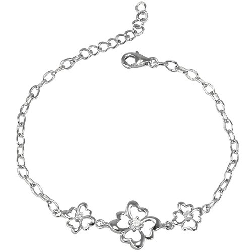 Four Leaf Clover Diamond Cubic Zirconia Lucky