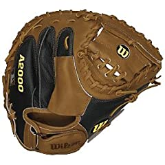 Wilson A2403 Mike Napoli MN25 33.5 Catcher Baseball Mitt (Right Hand Throw) by Wilson