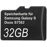 32GB Speicherkarte für Samsung Galaxy S Duos S7562