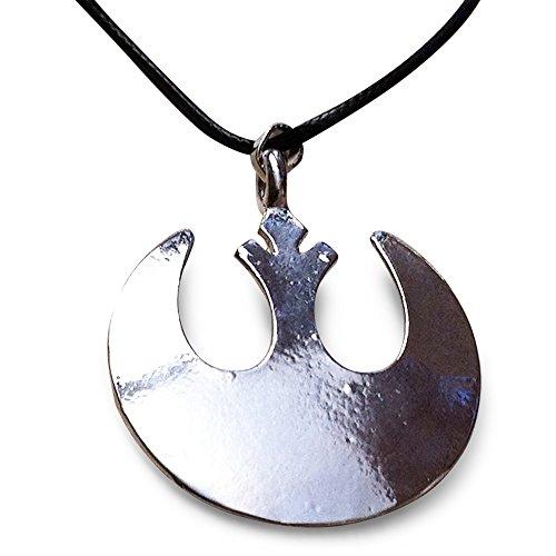 Guerre Stellari. Alleanza Ribelle. Pendente della collana Emblema tono argento. Star Wars. Rebel Alliance