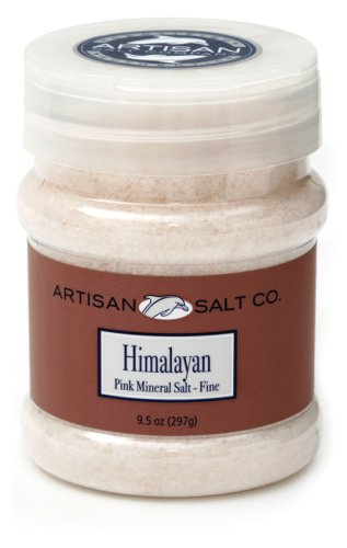 Artisan Salt Co. Himalayan Pink Salt-fine, 9.5 Ounce Jars (Pack of 3)