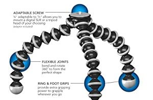 Joby GorillaPod SLR Zoom Tripod with Ball Head Bundle for DSLR