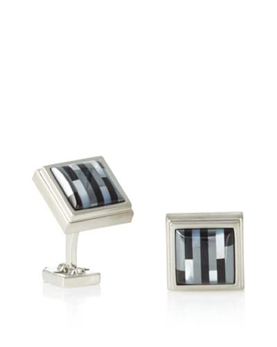 Ike Behar Onyx/Hematite/Mother of Pearl Cufflinks As You See
