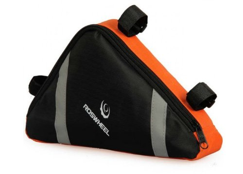 Youcool Roswheel Cycling Bike Triangle Frame Bag Front Tube Pouch Bicycle Under Seat Saddle Bag-Orange front-32882