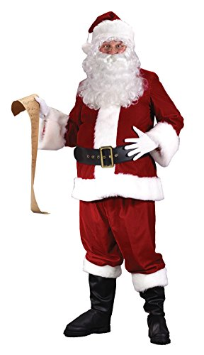 Funworld Mens Ultra Velvet Santa Suit Christmas Holiday Fancy Costume