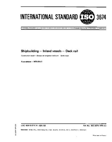 Iso 3674:1976, Shipbuilding -- Inland Vessels -- Deck Rail