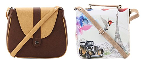 Felicita Combo High Quality Designer Cross Body College And Office Women And Girls Sling Bag (Set Of 2)(CARBG+...