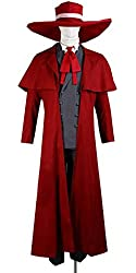 Onecos Hellsing Alucard Uniform Cosplay Costume Red