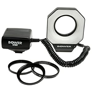 Bower SFDRF Digital MACRO Ring Light Flash for Nikon, Canon, Pentax and Olympus Digital and 35mm SLR Cameras
